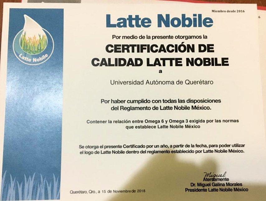 certificazione latte nobile messico